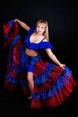 Woman dancing in studio — Stock Photo