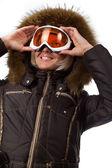 Foto do esquiador bonito — Fotografia Stock