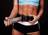 Picture of fasten gym belt — Stock Photo