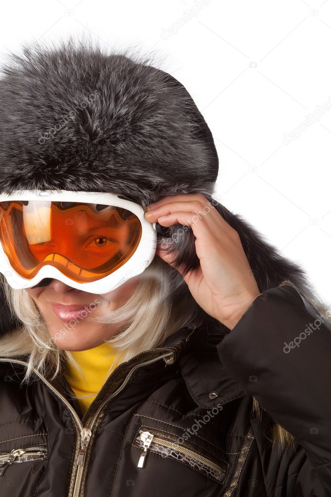 Picture  of happy snowboarder during skiing — Stock Photo #2539900