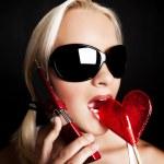 Hot playful girl calling — Stock Photo #2637927