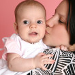 Cute baby with mother — Stock Photo