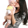 Cute baby girl with mother — Stock Photo #1514557