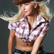 Pretty woman with cowboy hat — Stock Photo #1515744
