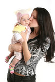 Cute baby girl with mother — Stock Photo