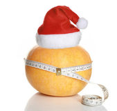 Tape measure wrapped around pumpkin — Stock Photo