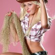Royalty-Free Stock Photo: Sexy woman with cowboy hat