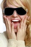 Cheerful young fashionable girl — Stock Photo