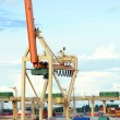 Stock Photo: Container crane