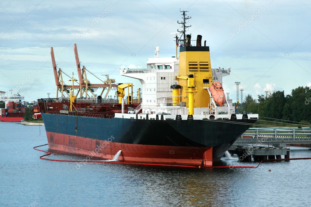 Cargo ship is loading  Stock Photo #1597326