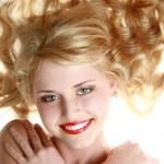 Beautiful laughing young woman — Stock Photo