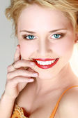Smiling attractive young woman — Stock Photo