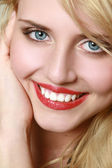 Smiling beautiful caucasian woman — Stock Photo