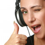 Beautiful girl in headphones — Stock Photo