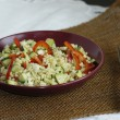 Salad from vegetables and pearl barley — Foto Stock
