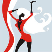 Stylish dancing girl — Stock Vector