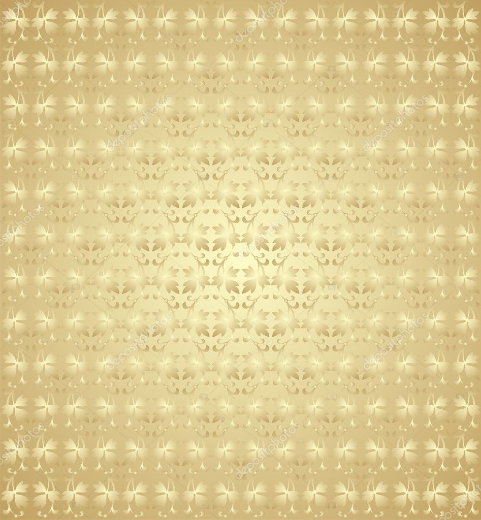 The gold background with repeating elements in classic style — Stock Vector #1418943