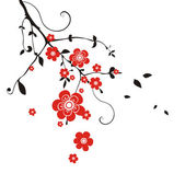 East background with flower — Vetor de Stock