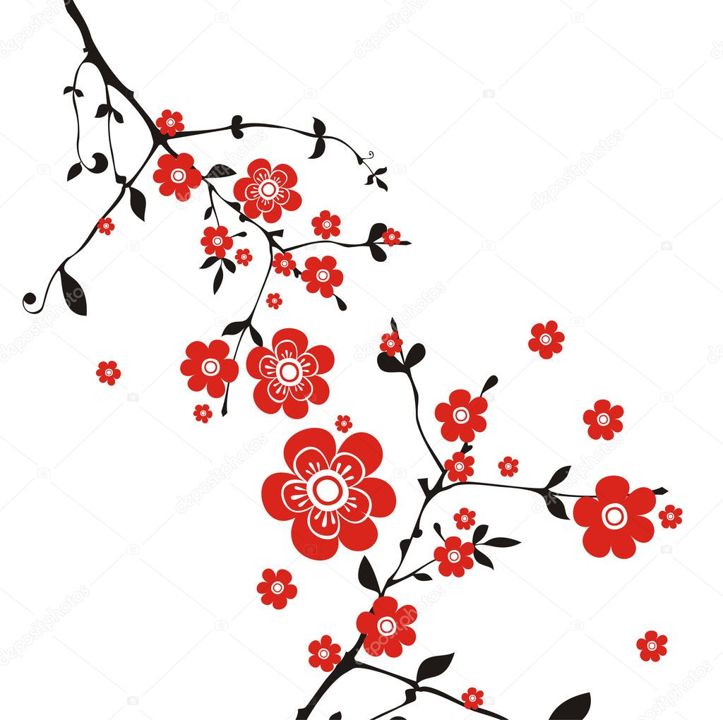 Beautiful east background with flower — Stock Vector #1427610