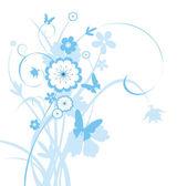 Background with flower — Stok Vektör