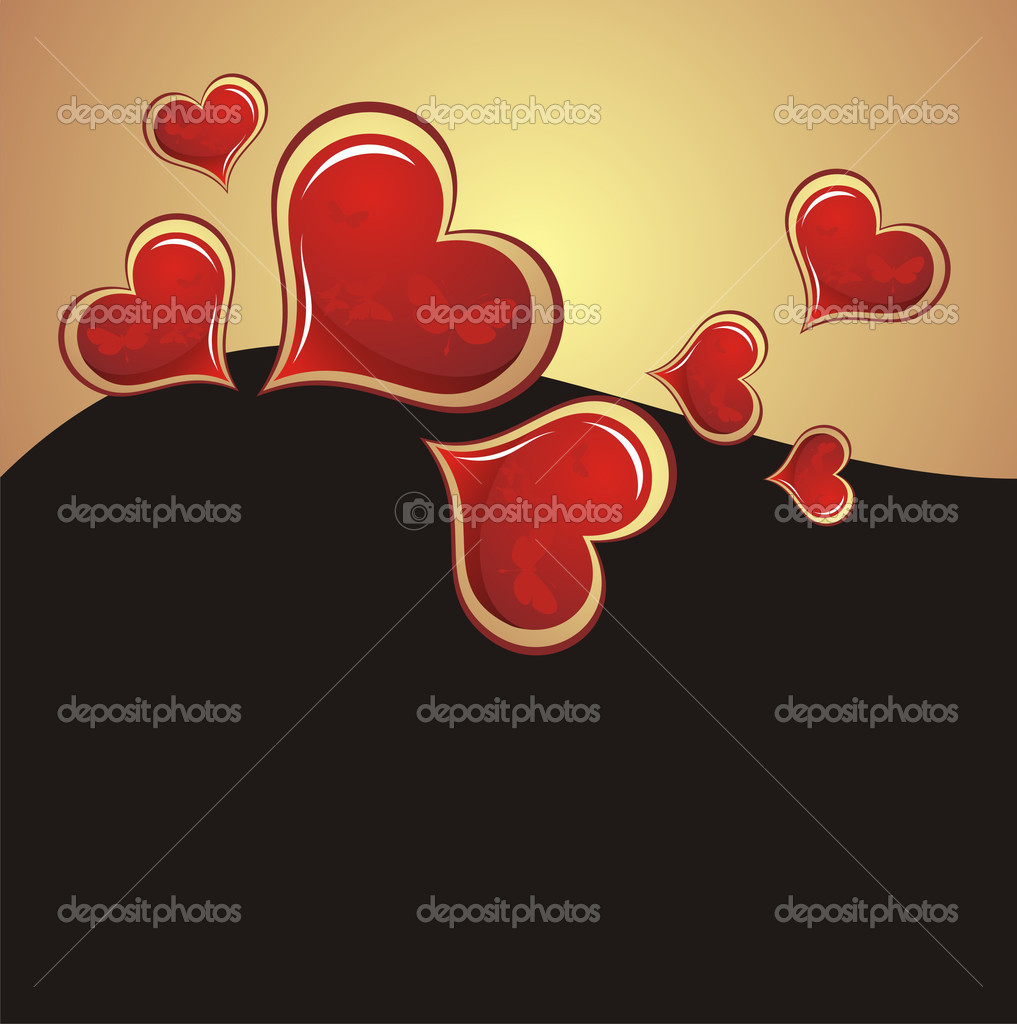 Heart Valentines Day background — Stock Vector #1935117