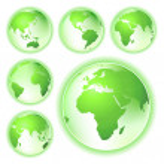 andare verde pianeta terra mappe — Foto Stock