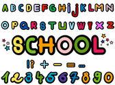 Alfabet i cyfry — Zdjęcie stockowe