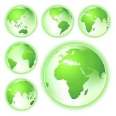 Go green planet earth maps — Stock Photo