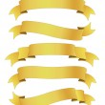 Golden ribbons — Stock Photo