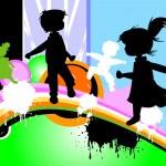 Kids silhouettes — Stock Photo #1605308
