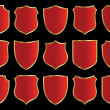 Royalty-Free Stock Photo: Shield design set
