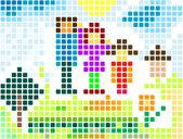 Pixels; — Foto de Stock