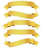 Golden ribbons — Stock Photo
