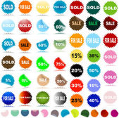 Sale stickers — Stock Photo