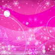 Fantasy snowflakes light pink - Stock Photo