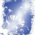 Winter floral illustration — Stock Photo