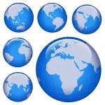 Shiny earth map — Stock Photo