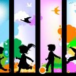 Kids silhouettes — Stock Photo #1616144