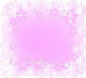 Декоративная рамка с большим количеством снежинка — Стоковое фото