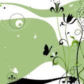 Desenho abstrato com borboletas a voar, — Fotografia Stock