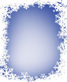 Grunge snowflakes frame — Stock Photo
