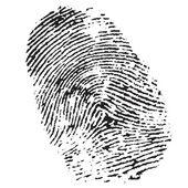 Highly detailed illustration of a fingerprint — Stock Photo