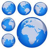 Glanzende earth-kaart — Stockfoto