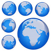 闪闪发亮的地球的地图 — 图库照片