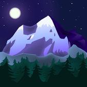 кавказкие горы пейзаж — Стоковое фото