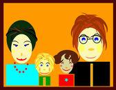 Family picture — Stock fotografie
