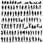 100 silhouettes — Stock Photo #1629402