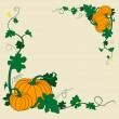 Pumpkins frame - Stock Photo