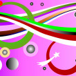 Circles and rainbow background in pink, — Stock Photo