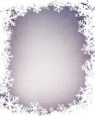 Grunge snowflakes frame — Stock Photo
